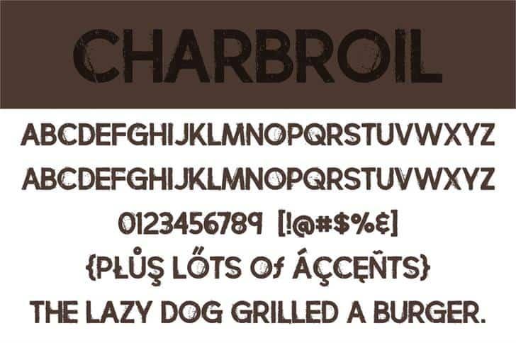 Charbroil шрифт скачать бесплатно