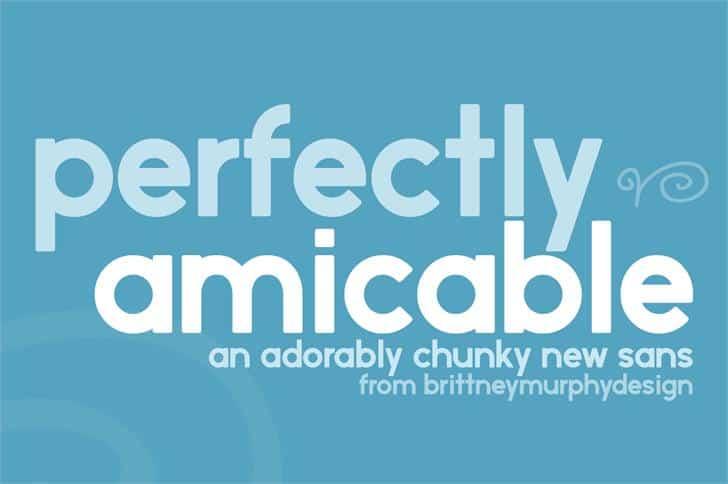 Perfectly amicable шрифт скачать бесплатно
