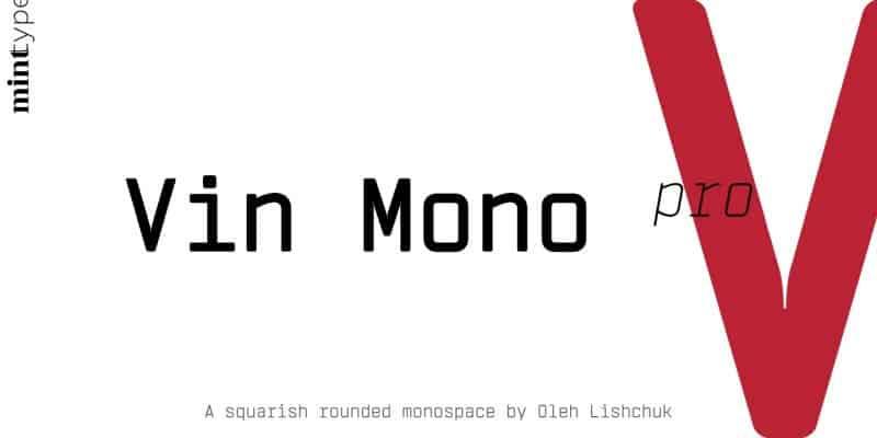 Vin Mono Light шрифт скачать бесплатно