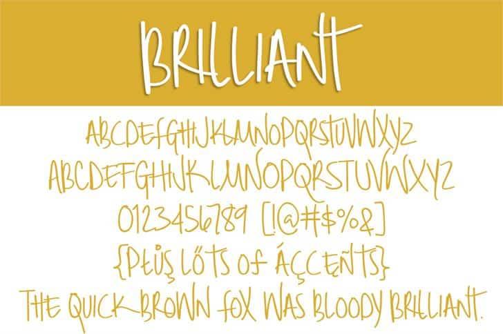Brilliant шрифт скачать бесплатно