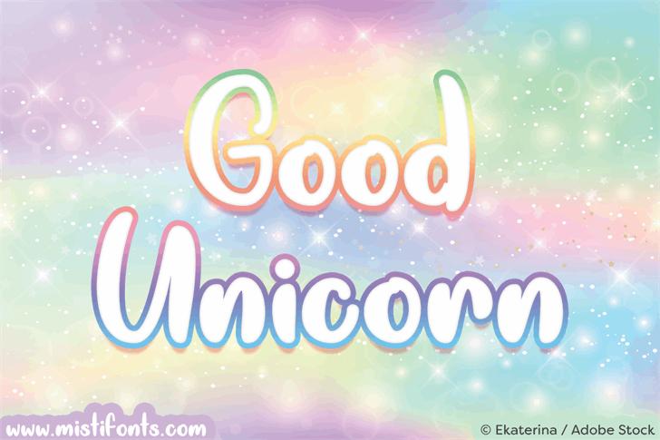 Good Unicorn шрифт скачать бесплатно