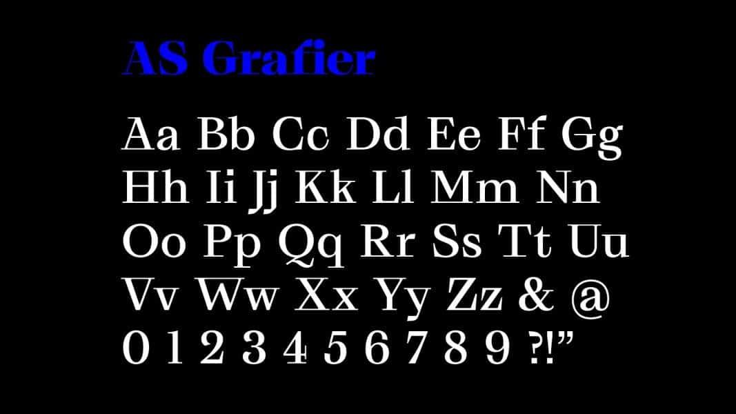 AS Grafier шрифт скачать бесплатно