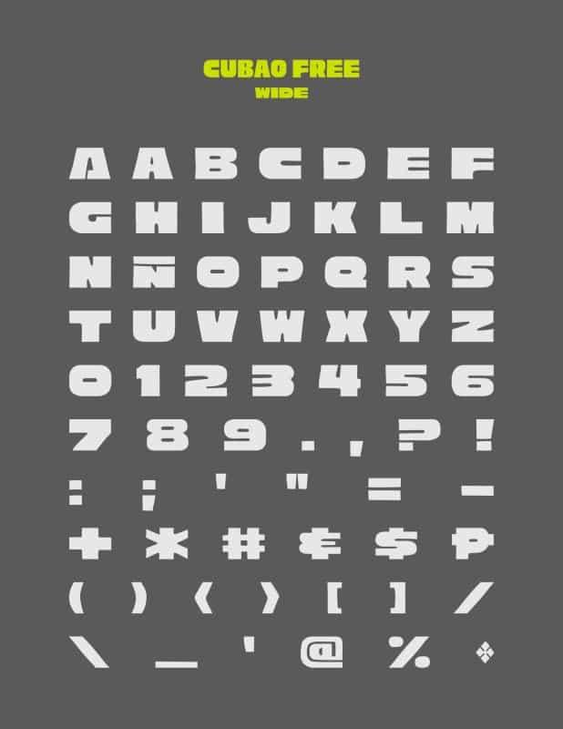 Cubao шрифт скачать бесплатно