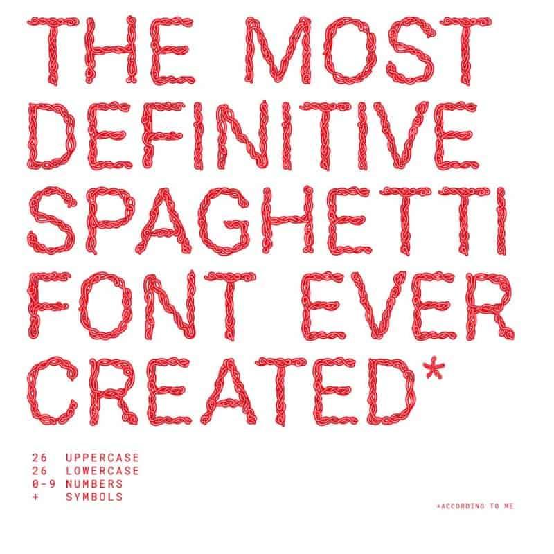 Spaghetti sans шрифт скачать бесплатно
