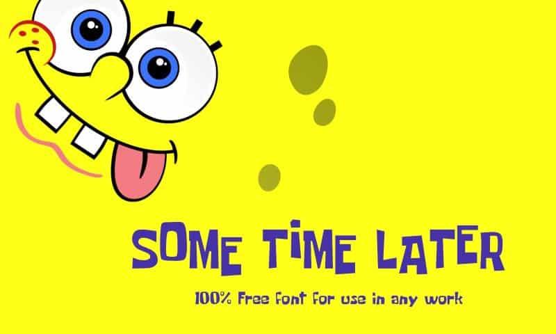 Some Time Later шрифт скачать бесплатно