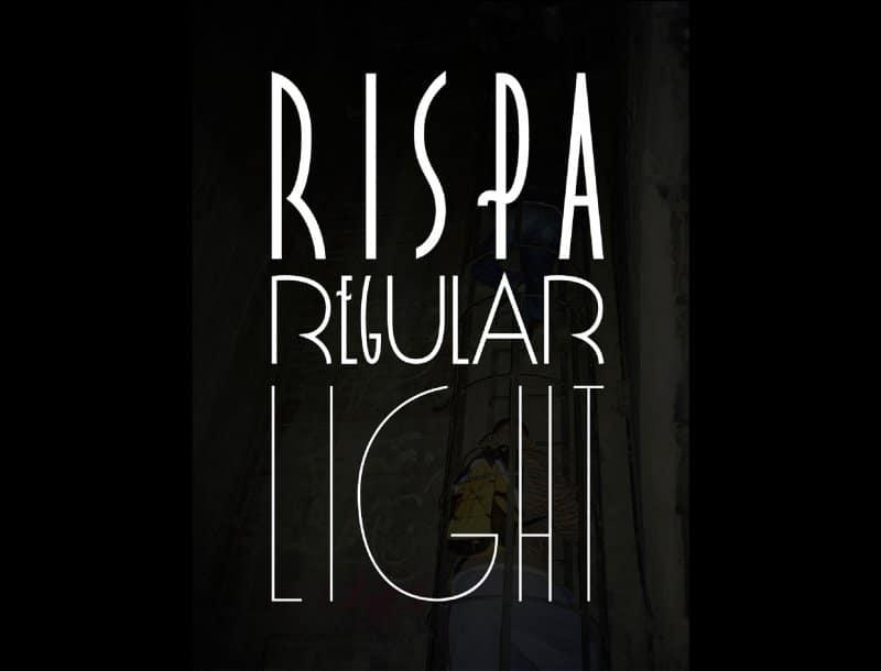 Rispa шрифт скачать бесплатно