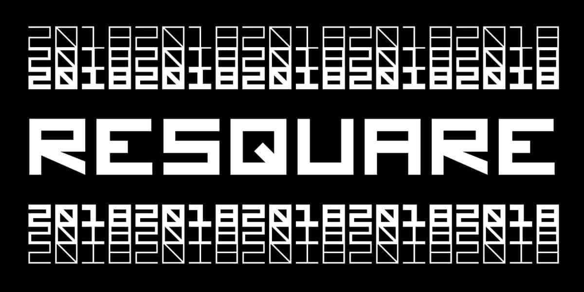 ReSquare шрифт скачать бесплатно