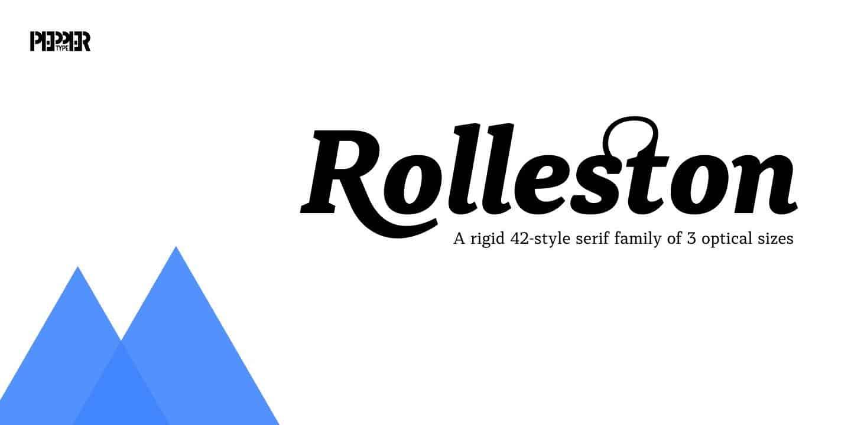 Rolleston Title Light шрифт скачать бесплатно