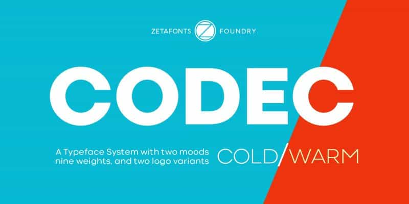 Codec Warm шрифт скачать бесплатно
