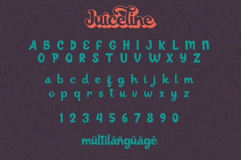 Juiceline шрифт скачать бесплатно
