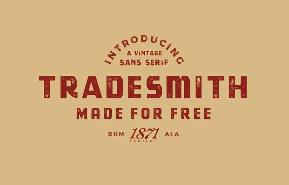 Tradesmith шрифт скачать бесплатно