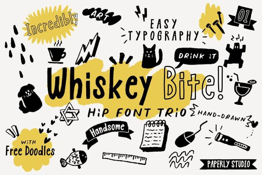 Whiskey Bite шрифт скачать бесплатно