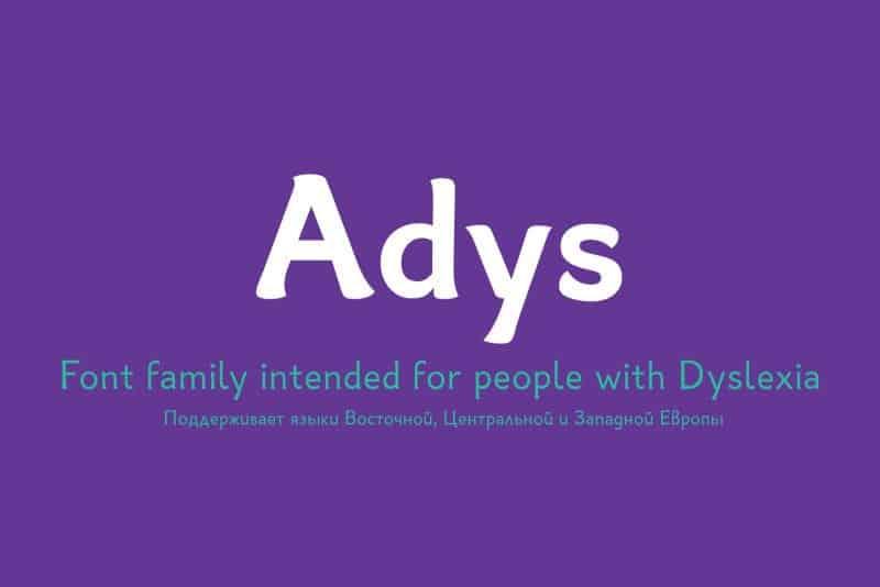 Adys шрифт скачать бесплатно
