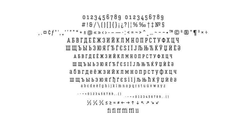 Vin Slab Light шрифт скачать бесплатно