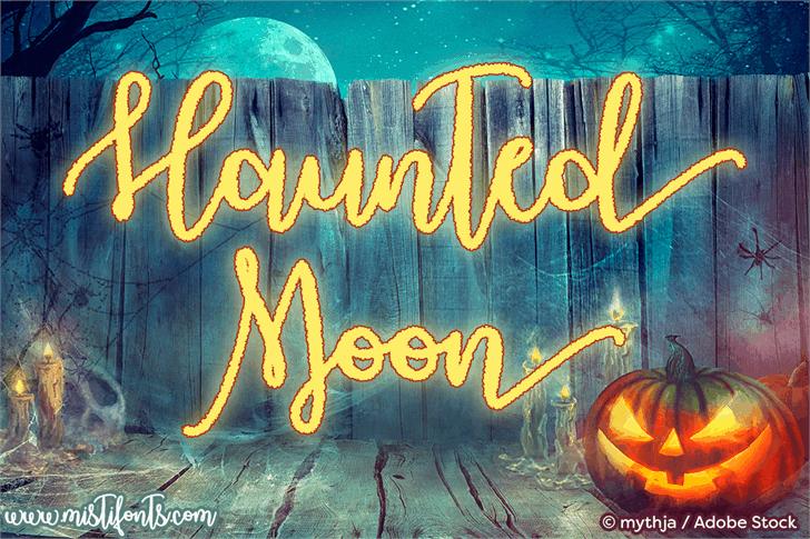 Haunted Moon шрифт скачать бесплатно