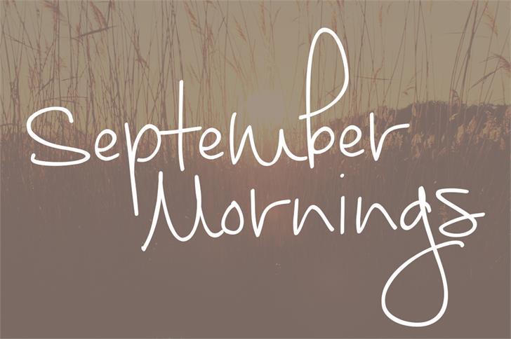 September Mornings шрифт скачать бесплатно