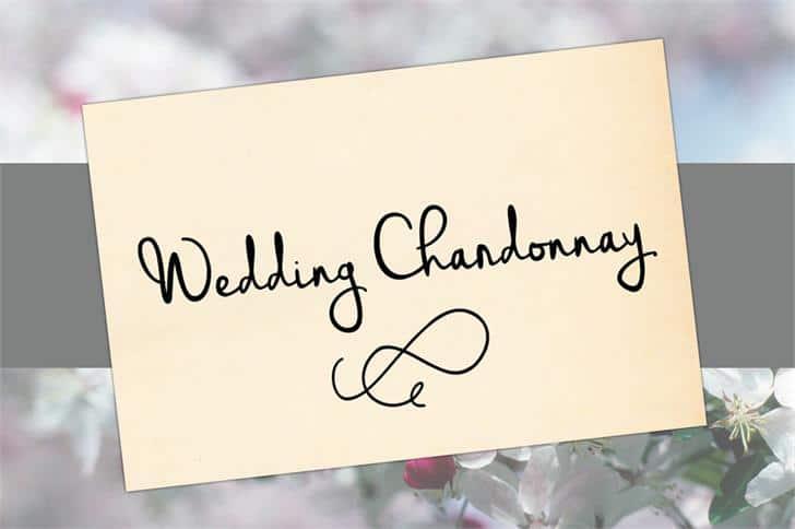 Wedding Chardonnay шрифт скачать бесплатно