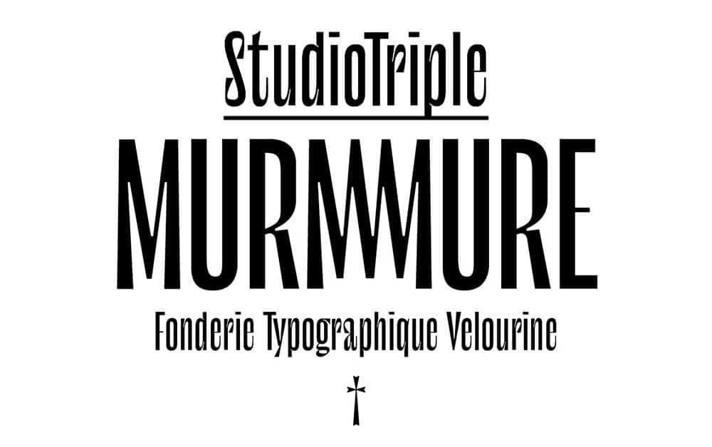 Le murmure шрифт скачать бесплатно