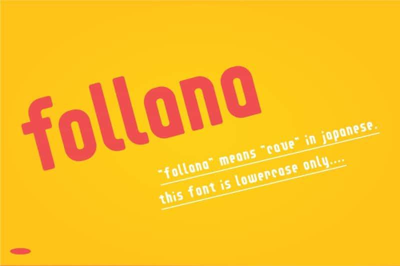 Follana шрифт скачать бесплатно