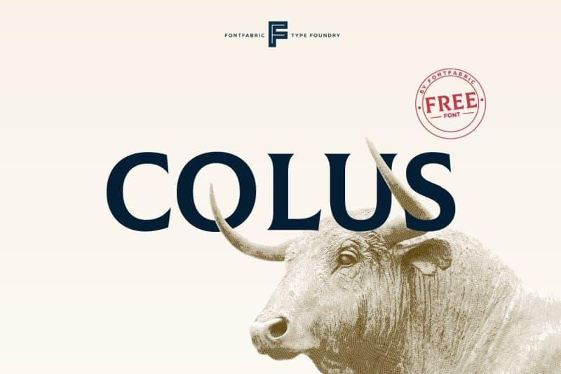 Colus шрифт скачать бесплатно