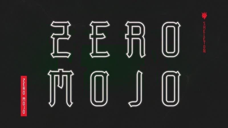 ZeroMojo шрифт скачать бесплатно