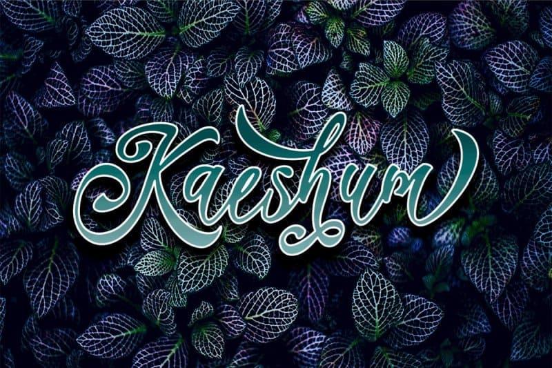 Kaeshum Script - BOLD шрифт скачать бесплатно