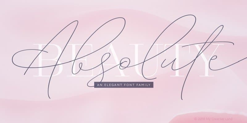 Absolute Beauty   Family шрифт скачать бесплатно