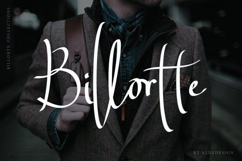 Billortte Script   шрифт скачать бесплатно