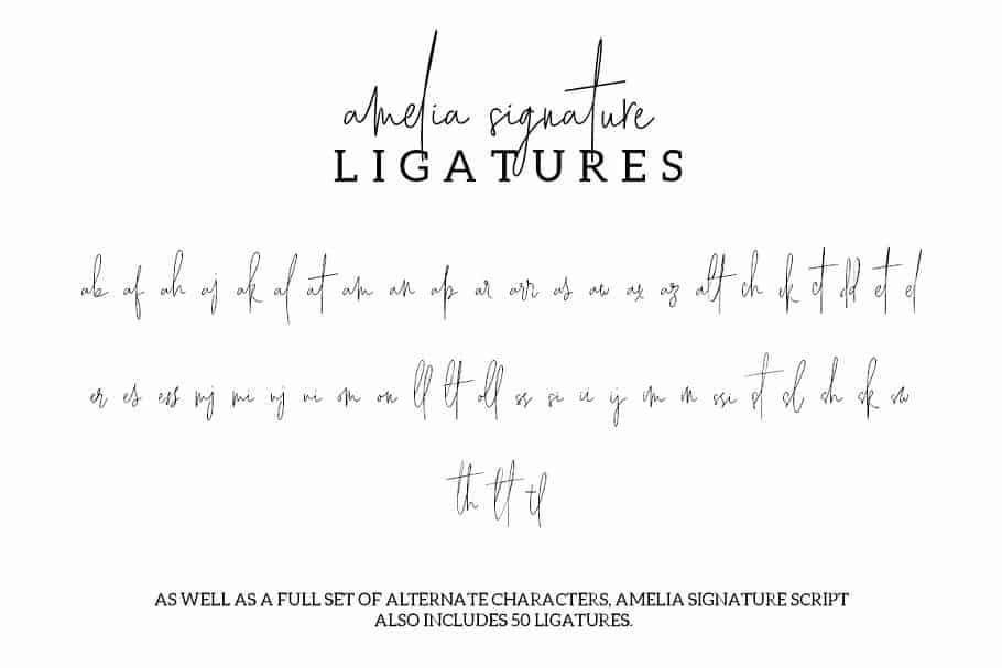 Amelia Signature шрифт скачать бесплатно