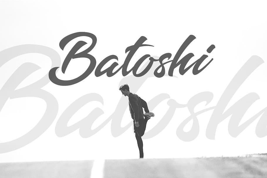 Batoshi Typeface шрифт скачать бесплатно