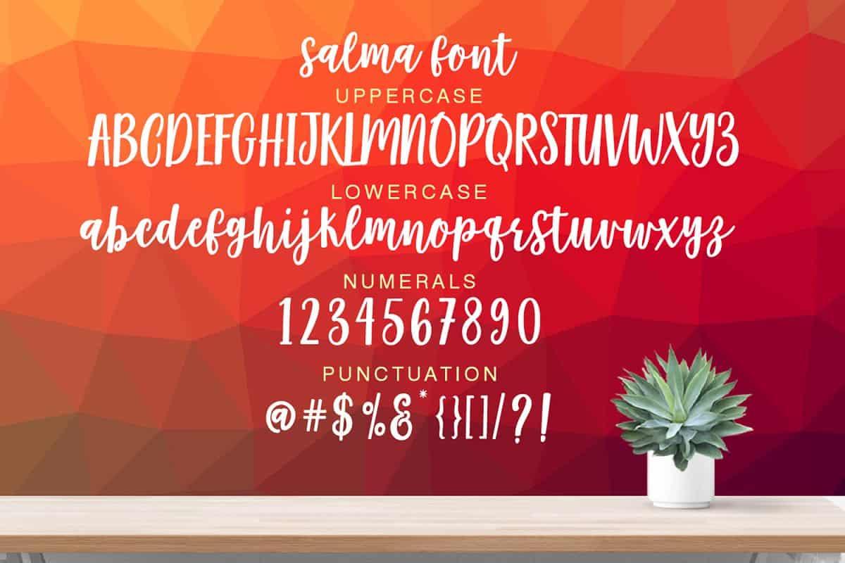 Salma Desire шрифт скачать бесплатно