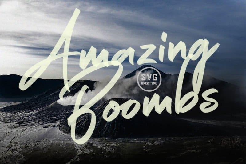 Amazing Boombs шрифт скачать бесплатно