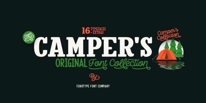 Camper   Family шрифт скачать бесплатно
