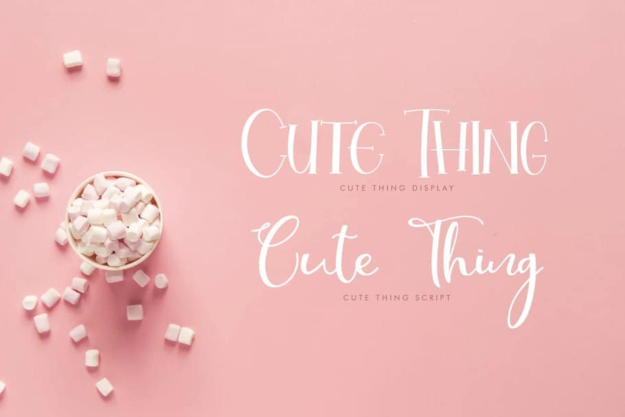 Cute Thing   Duo шрифт скачать бесплатно