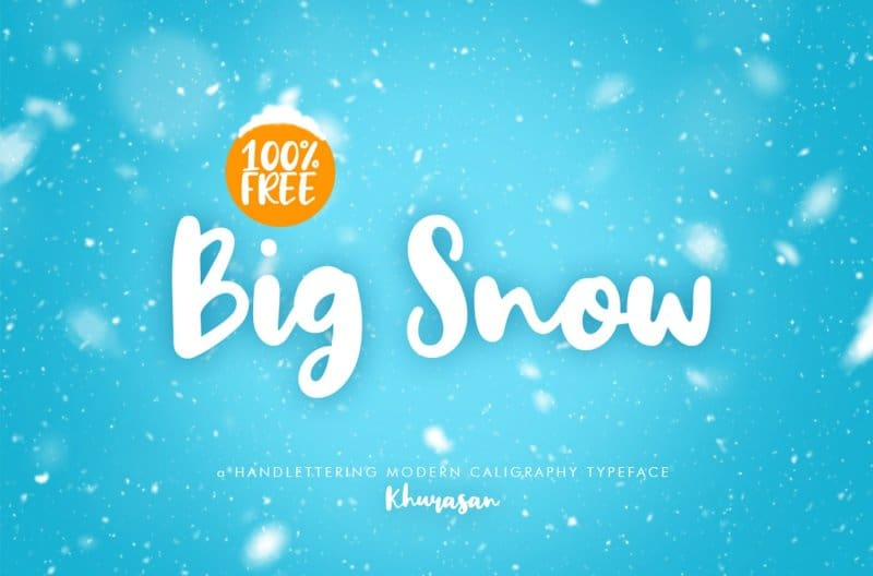 Big Snow шрифт скачать бесплатно