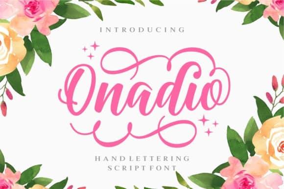 Onadio Script шрифт скачать бесплатно