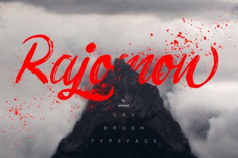 Rajomon шрифт скачать бесплатно