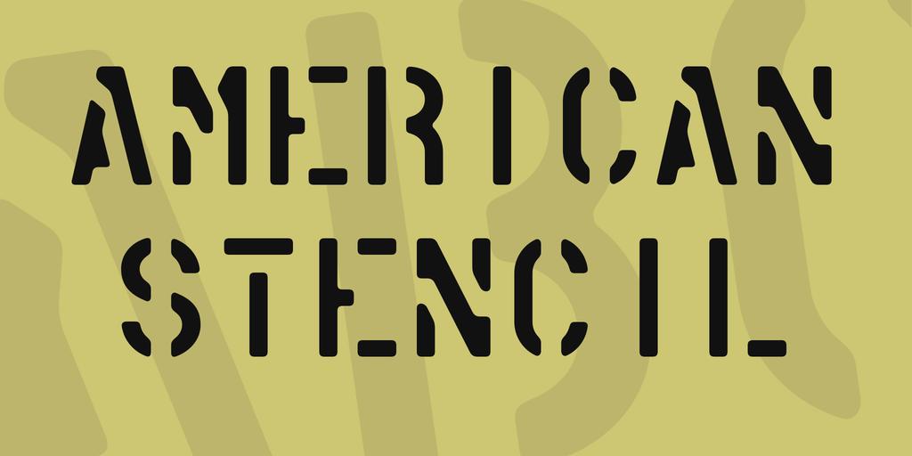 American Stencil шрифт скачать бесплатно