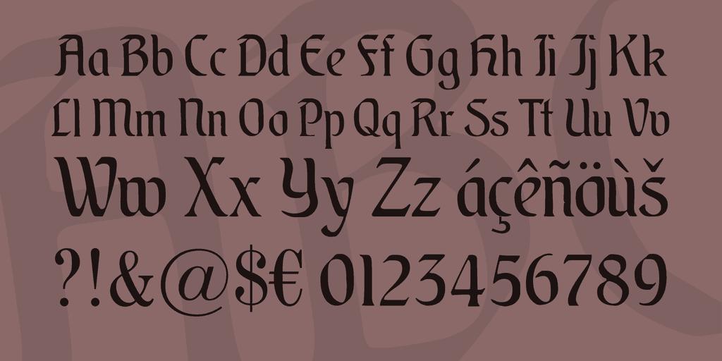 Augsburger шрифт скачать бесплатно