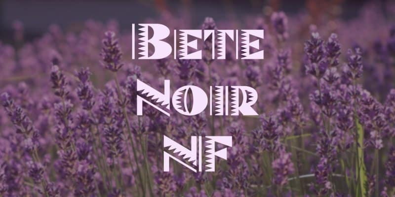Bete Noir NF шрифт скачать бесплатно