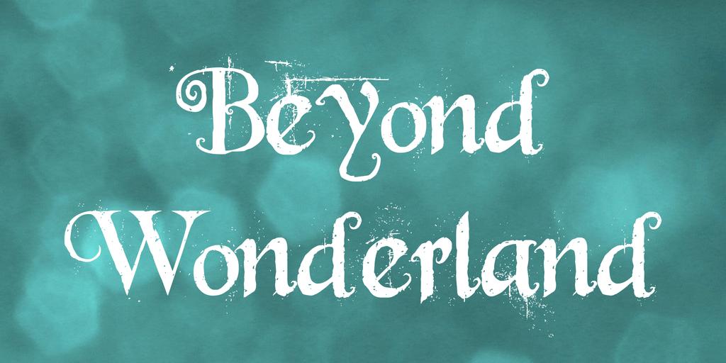 Beyond Wonderland шрифт скачать бесплатно