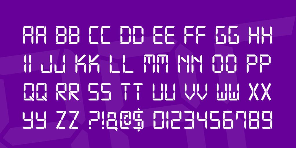 Digital-7   Family шрифт скачать бесплатно