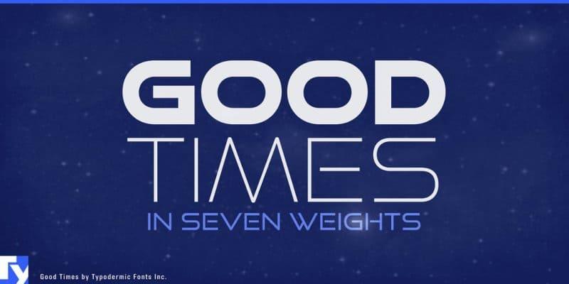 Good Times шрифт скачать бесплатно