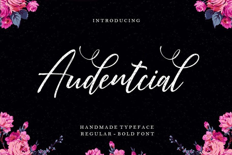 Audentcial шрифт скачать бесплатно