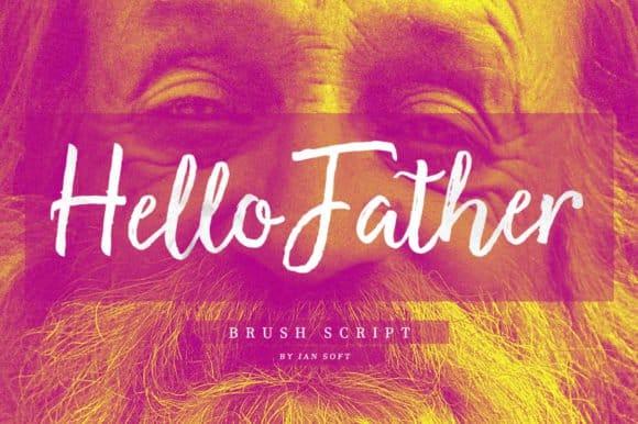 Hello Father шрифт скачать бесплатно