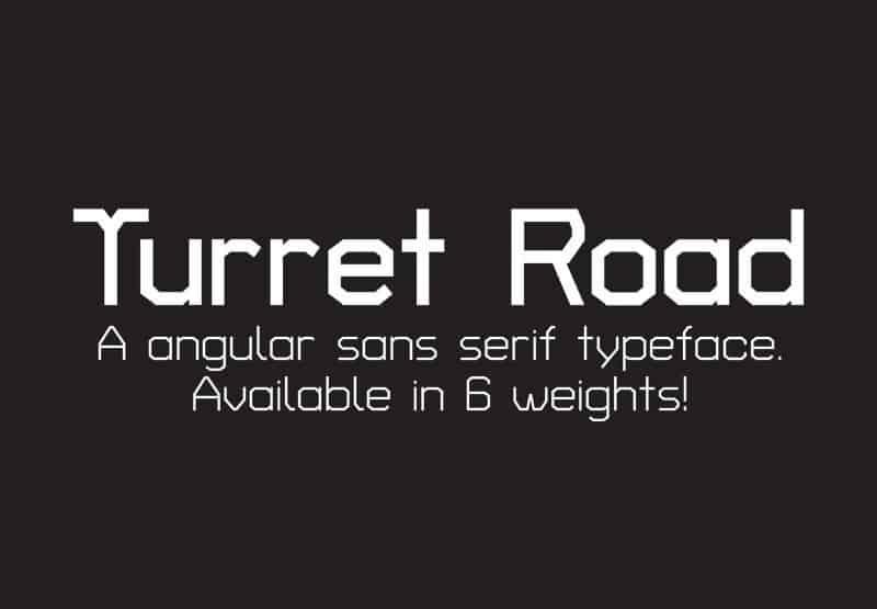 Turret Road шрифт скачать бесплатно