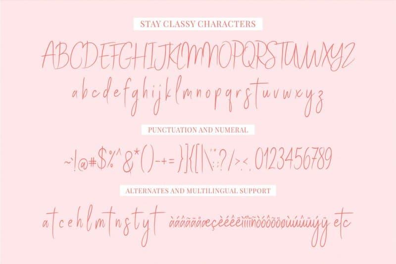 Stay Classy шрифт скачать бесплатно