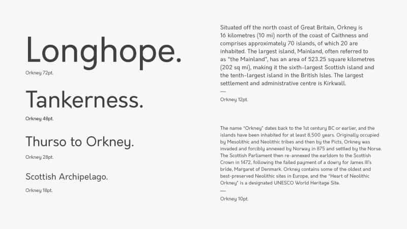Orkney шрифт скачать бесплатно
