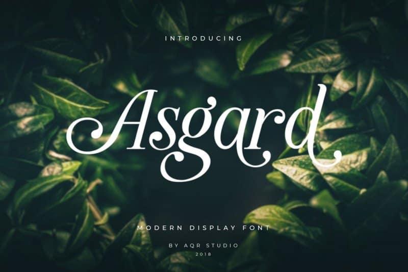 Asgard Display   шрифт скачать бесплатно