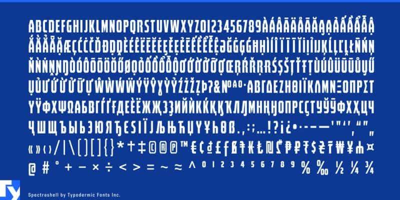 Spectrashell шрифт скачать бесплатно